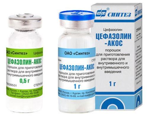 Как сделать раствор для цефазолина